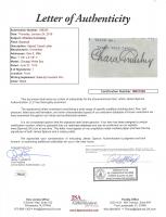 Charles Comiskey Signed 1914 Letter (JSA LOA) (See Description) at PristineAuction.com