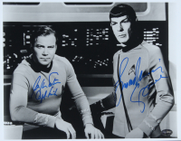 "William Shatner & Leonard Nimoy Signed ""Star Trek"" 11x14 Photo Inscribed ""Capt. Kirk"" & ""Spock"" (PSA COA) at PristineAuction.com"