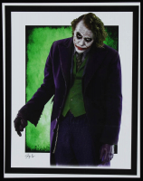 "The Joker - Heath Ledger - ""Batman"" - DC Comics - Jeff Lang 11x14 Signed Limited Edition Art Print #/5 (PA COA) at PristineAuction.com"
