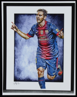 Lionel Messi - Barcelona - Jeff Lang 11x14 Signed Limited Edition Art Print #/5 (PA COA) at PristineAuction.com