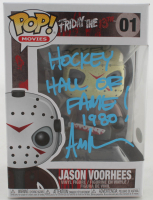 "Ari Lehman Signed ""Friday the 13th"" #1 Jason Voorhees Funko Pop! Vinyl Figure Inscribed ""Hockey Hall Of Fame 1980!"" (Beckett COA) at PristineAuction.com"