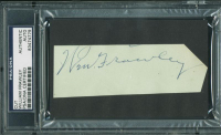 William Frawley Signed 1.75x5 Cut (PSA Encapsulated) at PristineAuction.com