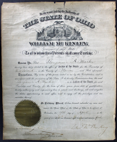 William McKinley Signed Appointment Document (PSA LOA) (See Description) at PristineAuction.com
