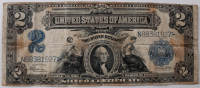 1899 $2 Two Dollars U.S. Silver Certificate Blue Seal Large Size Currency Bank Note Bill at PristineAuction.com