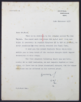 Sir Winston Churchill Signed 8x10 1937 Letter (Beckett LOA) at PristineAuction.com