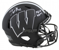 "T.J. Watt Signed Wisconsin Badgers Eclipse Alternate Full-Size Authentic On-Field Speed Helmet Inscribed ""Mega Watt"" (Beckett COA) at PristineAuction.com"