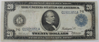 1914 $20 Twenty Dollars Blue Seal U.S. Legal Tender Note at PristineAuction.com
