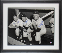 "Mickey Mantle, Allie Reynolds & Johnny Mize Signed Yankees 22x26 Custom Framed Photo Display Inscribed ""No. 7"" (Beckett LOA) at PristineAuction.com"