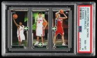 2003-04 Topps Rookie Matrix #JMK LeBron James 111 RC / Darko Milicic 112 RC / Chris Kaman 116 RC (PSA 8) at PristineAuction.com