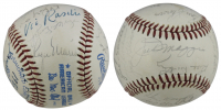 """Yankees' Greats"" OAL Baseball Signed by (22) with Roger Maris, Joe DiMaggio, Lefty Gomez, Joe Sewell (JSA LOA) at PristineAuction.com"