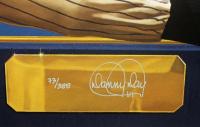 Joe DiMaggio Signed Yankees 31x36 Custom Framed Lithograph Display (PSA LOA) at PristineAuction.com