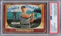"Mickey Mantle Signed 1955 Bowman #202 Inscribed ""No. 7"" (PSA Encapsulated) at PristineAuction.com"