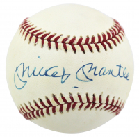 Mickey Mantle Signed OML Baseball (PSA LOA) at PristineAuction.com
