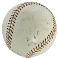 "Thurman Munson Signed OAL Baseball Inscribed ""Good Luck"" (JSA LOA) (See Description) at PristineAuction.com"