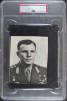 Yuri Gagarin Signed 3.6x4.75 Photo with Extensive Inscription (PSA Encapsulated) at PristineAuction.com