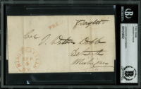 Zachary Taylor Signed 2.8x5.25 Cut (BGS Encapsulated) at PristineAuction.com