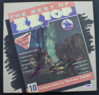 """Billy Gibbons, Frank Beard, & Dusty Hill Signed ZZ Top """"Best Of"""" Vinyl Album (PSA COA) at PristineAuction.com"""