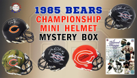 Schwartz Sports – 1985 Chicago Bears Signed Mini Helmet Mystery Box– Series 9 - (Limited to 134) *Walter Payton 8x10 Redemption* at PristineAuction.com