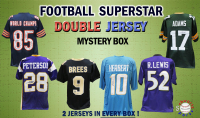 Schwartz Sports Football Superstar Signed DOUBLE Football Jersey Mystery Box  - Series 4 - (Limited to 100) at PristineAuction.com