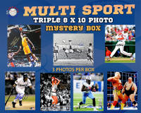 Schwartz Sports Multi Sport Signed TRIPLE 8x10 Photo Collection Mystery  Box – Series 6 (3 Autographed 8x10 Photos Per Box) *Multiple 16x20 Redemptions* at PristineAuction.com