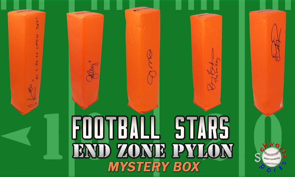 Schwartz Sports Football Star Signed Endzone Pylon Mystery Box - Series 5 (Limited to 150) at PristineAuction.com