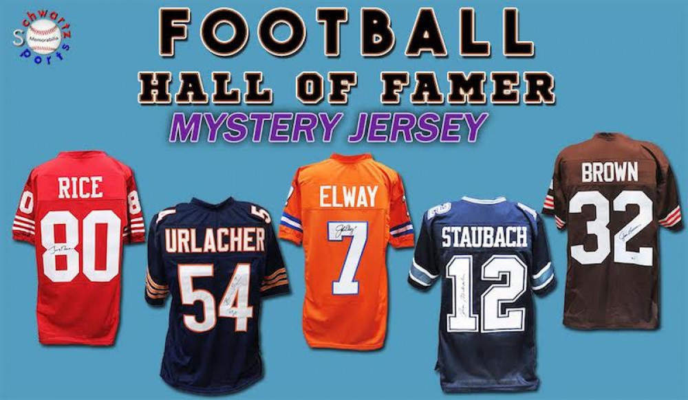 Schwartz Sports Football Hall of Famer Signed Football Jersey Mystery Box - Series 15 (Limited to 100) at PristineAuction.com