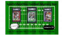 SportsShopOhio Football Card Mystery Box (Burrow / Herbert / Tua Graded Card Edition) at PristineAuction.com