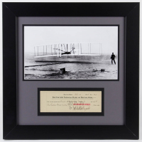 Orville Wright Signed 19x19 Custom Framed Personal Bank Check Display (JSA ALOA) at PristineAuction.com