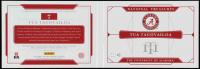 Tua Tagovailoa 2020 Panini National Treasures Collegiate Combo Material Signatures Booklet #6 at PristineAuction.com