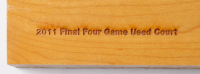 UConn 2011 Final Four Champions Game-Used Multi-Colored 12x16 Hardwood Court Slab (Fanatics Hologram) at PristineAuction.com