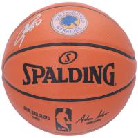 Stephen Curry Signed Game Ball Series Warriors Logo Basketball (Fanatics Hologram) at PristineAuction.com