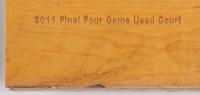 UConn 2011 Final Four Champions Game-Used 12x16 Hardwood Court Slab (Fanatics Hologram) at PristineAuction.com
