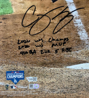Corey Seager Signed Dodgers 16x20 LE Photo with Multiple Stat Inscriptions (Fanatics Hologram) at PristineAuction.com