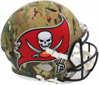Tom Brady Signed Buccaneers Full-Size Authentic On-Field Camo Speed Helmet (TriStar Hologram) at PristineAuction.com