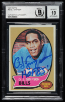 "O.J. Simpson Signed 1970 Topps #90 RC Inscribed ""HOF 85'"" (BGS Encapsulated) at PristineAuction.com"