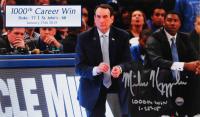 "Mike Krzyzewski Signed Duke Blue Devils 6x10 Photo Inscribed ""1,000th Win"" & ""1-25-15"" (Steiner Hologram) at PristineAuction.com"
