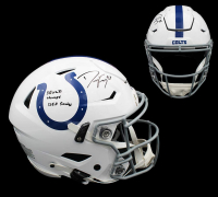 "Dwight Freeney Signed Colts Full-Size Authentic On-Field SpeedFlex Helmet Inscribed ""SB XLI Champs & 125.5 Sacks"" (Radtke COA) at PristineAuction.com"