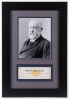 Benjamin Harrison Signed 15x22 Custom Framed Personal Bank Check Display (JSA ALOA) at PristineAuction.com