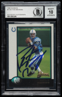 Peyton Manning Signed 1998 Bowman #1 RC (BGS Encapsulated) at PristineAuction.com