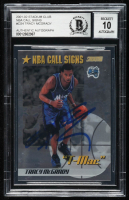 Tracy McGrady Signed 2001-02 Stadium Club NBA Call Signs #CS4 (BGS Encapsulated) at PristineAuction.com