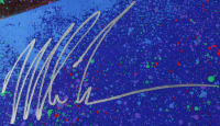 Mike Tyson Signed 35x43 Bill Lopa Hand-Embelished Giclee on Canvas (JSA ALOA) at PristineAuction.com