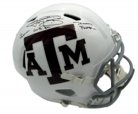 "Johnny Manziel Signed Texas A&M Aggies Full-Size Speed Helmet Inscribed ""12 Heisman"", ""Johnny Football"", & ""Gig 'Em!"" (JSA COA) at PristineAuction.com"