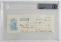 Eliphalet Remington Signed 1853 Bank Check (BGS Encapsulated) (See Description) at PristineAuction.com