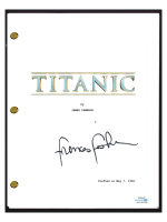 "Frances Fisher Signed ""Titanic"" Movie Script (AutographCOA COA) at PristineAuction.com"