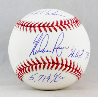 Nolan Ryan Signed OML Baseball with (3) Inscriptions (AIV COA & Ryan Hologram) at PristineAuction.com
