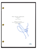 "Armie Hammer Signed ""The Social Network "" Movie Script (AutographCOA COA) at PristineAuction.com"