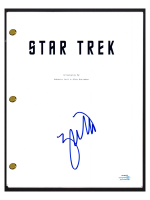"Zachary Quinto Signed ""Star Trek"" Movie Script (AutographCOA COA) at PristineAuction.com"