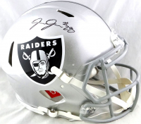 Josh Jacobs Signed Raiders Full-Size Authentic On-Field Speed Helmet (Beckett COA & Jacobs Hologram) at PristineAuction.com