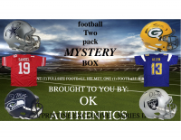 OKAUTHENTICS Full Size Helmet and Jersey Football Mystery Box Series II at PristineAuction.com