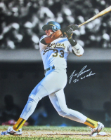 """Jose Canseco Signed Athletics 16x20 Photo Inscribed """"2x WS Champs"""" (JSA COA) at PristineAuction.com"""